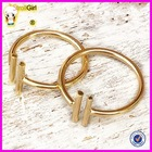 2015 Fashion hot sale adjustable midi ring 925 sterling silver bar knuckle rings