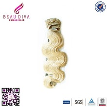 2015 BEAU DIVA wholesale easy clips in Indian hair extensions human hair weave