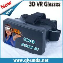 2015 New Plastic Virtual Reality Helmet VR headset 3D Glasses for Mobile Phone