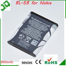 3.7V 890 mAh BL-5B Battery For Nokia N90 3230 5300 5070 6121 6080