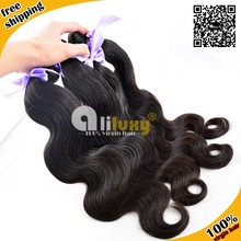 Aliluxy best quality 7a grade body wave eurasian raw virgin unprocessed european human hair