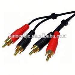 2015 new design s-video 4-pin rca to 2 rca video cable