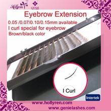 0.05/0.07/0.10/0.15mm I Curl Mink Brown/Black Silky Mink Eyebrow Extension