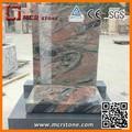 La quantité élevée et un design unique chine. moderne, funéraire pierre tombale de granit rouge multicolore