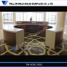 artificial stone open type restaurant service desk