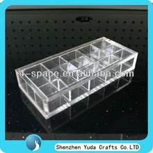 Small clear plexiglass box ,acrylic box with divider candy tin box