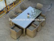 outdoor leisure dinning set table chair garden wicker furniture