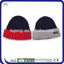 stylish thick men beared knit cap