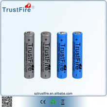 Li-ion battery pack TrustFire 3.7v aa type battery,rechargeable 14650 lithium batteries, 500 cycle times high power battery
