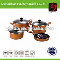 Special design & hot sales aluminum ceramic porcelain enamel cookware sets