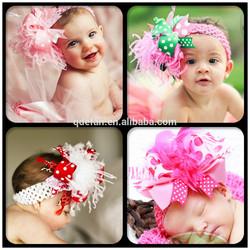 Kids baby toddler flower tassel hair band infant crochet headband