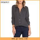 neck design of long sleeve clothing blouse models