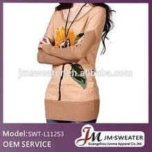 latest design garment jacquard girls party sweater dresses