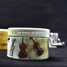 wholesale music box hand crank paper music box