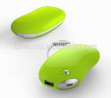 AWC170 5200mah Bean Shape micro usb charger multi