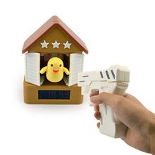 New Arrive Creative Home Decoration Shoot Bird Gun Alarm Clock