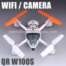 Cheap QR W100S FPV 2.4Ghz WiFi drone Video camera Quadcopter rc plane wholesale