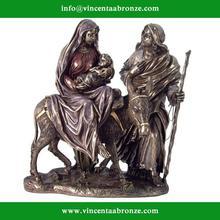 Customed modern garden sculpture bronze virgin mary with child