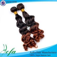 Factory price Ombre Hair Weaves 6A grade Virgin Cambodian Hair
