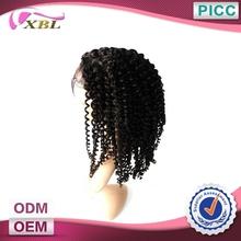 Wholesale Cheap Human Hair Half Wigs Kinky Curly Full Lace Human Hair Wig