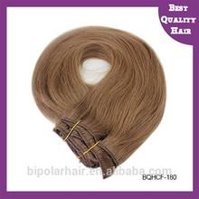 Wholesale 5A grade 100% Mongolian virgin double drawn triple clip in hair extensions
