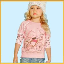 2015 Europe and America fancy kids t-shirt beautiful girl t-shirt