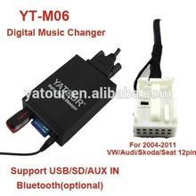 Yatour car stereo digital MP3 USB/SD/AUX/Bluetooth adapter for VW/AUDI/SKODA/SEAT