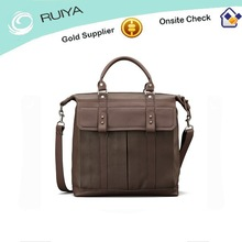 Fashion style mineral green soft grain leather briefcase, lightweight briefcases,