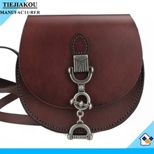 designer vintage real leather girls small shoulder bag