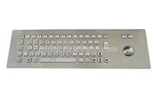 Industrial Wired Kiosk Metal Keyboard/Metal Keyboard with Trackball