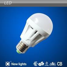 A60 A19 SMD5730 Plastic Led Bulb 7W with E27 B22 Base