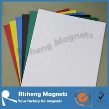 matt white pvc coated flexible rubber magnet A4 size