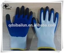 Anti-slip Polyester coated wrinkle latex bus driving gloves