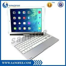 180 Flip 360 Rotation Aluminum case with keyboard for ipad air 2 keyboard