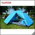 De alta calidad persona 3 doble- capa impermeable tienda de camping senderismo con mochila