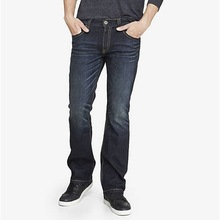 thick stitch slim fit boot cut jean