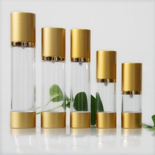 15ml delicate square AS/SAN plastic airless pump cosmetics bottle