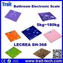17 patterns optional LECREA SH-368 Digital Electronic Body Weight Platform Scales Electronic Bathroom Body Scale