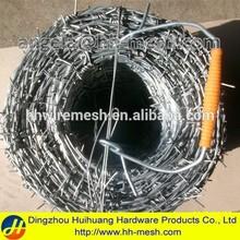 grass boundary galvanized barbed wire