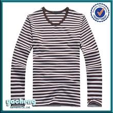 hot sale stripe women's sexy v-neck t-shirt v neck long sleeve t shirt v-neck collar t-shirt for unisex