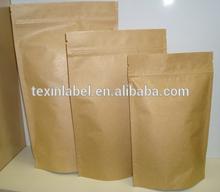 stand up zipper brown kraft paper bag for sugar
