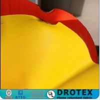 100%polyester flame retardant&waterproof coating fabric for safety vest