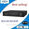 Hot popular 1080 p full hd sdi 8 ch h 264 dvr vigilância software livre