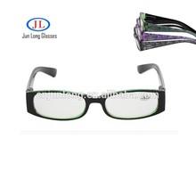 2015 più occhiali di moda nero struttura di plastica vetri di lettura/a buon mercato buono- qualità occhiali da lettura