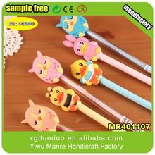 Whole factory cartoon animal insert pen topper/pen charm