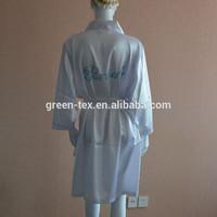 Sexy White satin nightgown with rhinestone logo
