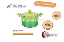 aluminum stock pot with metallic paint and ceramic coating