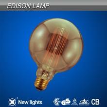 Full glass bulb Vintage carbon Edison bulb