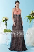 Hot Sale Halter Two Color Elegant Evening Dress Porn 4089
