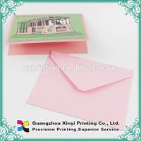 Custom offset pirnted art paper coloring envelope for graduation invitation handmade